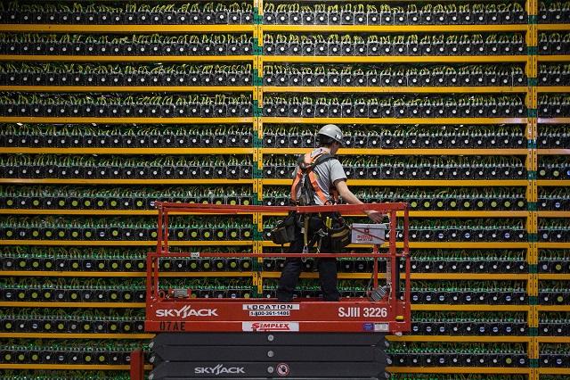 Hệ thống máy đào Bitcoin quy mô lớn