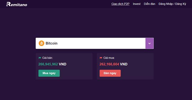 Remitano là sàn giao dịch tiền điện tử hỗ trợ khách hàng mua bán Bitcoin bằng đồng VND cực nhanh