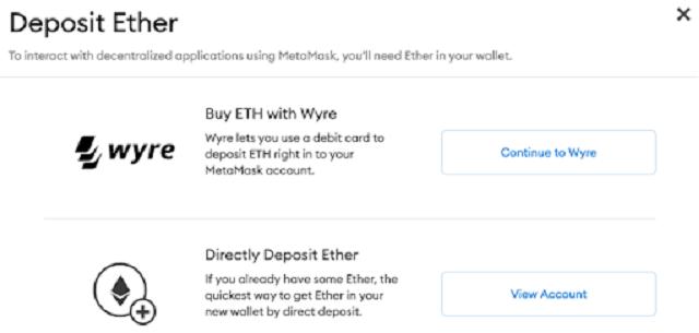 Ví Metamask cho phép bạn gửi Ether đến một tài khoản khác