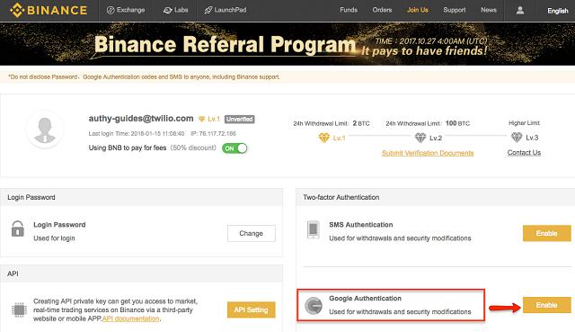 Giao diện Binance Referral Program