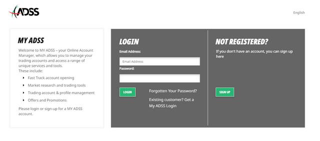Chọn mục Sign up nếu muốn đăng ký tài khoản