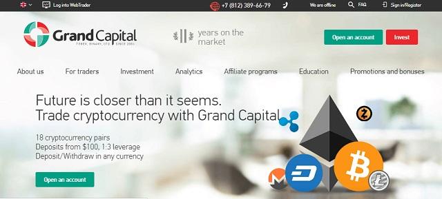 Tất cả các tài khoản giao dịch tại Grand Capital đều mất phí spread