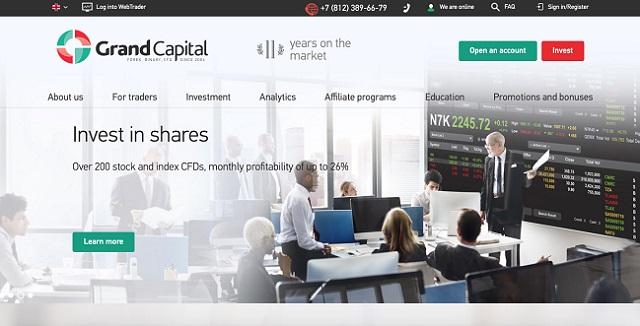 Sàn Grand Capital hỗ trợ cả MT4 và MT5