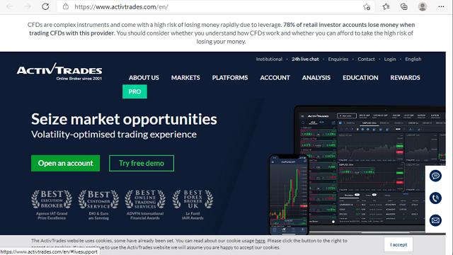 Website chính thức của Activtrades