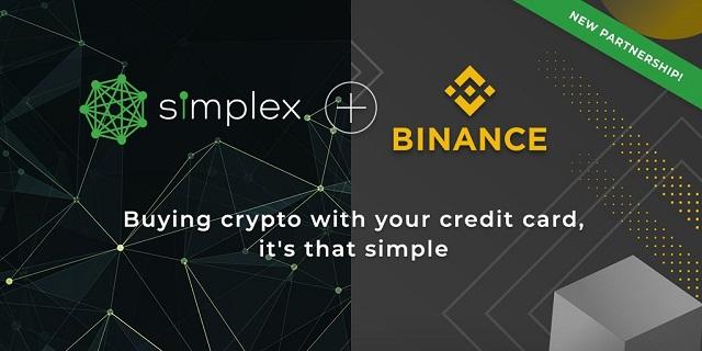 Binance hợp tác với Simplex hỗ trợ mua bán tiền điện tử thông qua thẻ tín dụng và thẻ ghi nợ