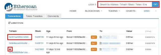 Cách sử dụng TxID trên các nền tảng tiền điện tử khác nhau như Etherscan, Dash, Zcash,..