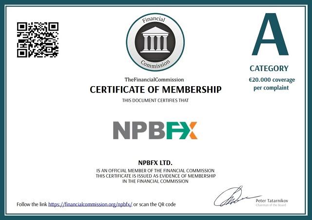 Giấy phép hoạt động của sàn giao dịch NPBFX