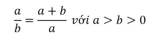Hình minh họa tỷ lệ vàng trong toán học