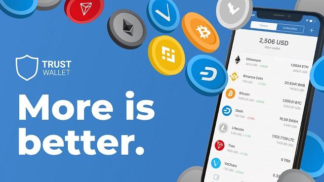 Lưu trữ coin trên ví Trust Wallet nhanh chóng, an toàn