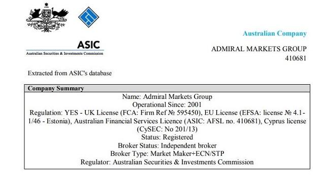Sàn Admiral Markets đã sở hữu giấy phép hoạt động tại nhiều khu vực