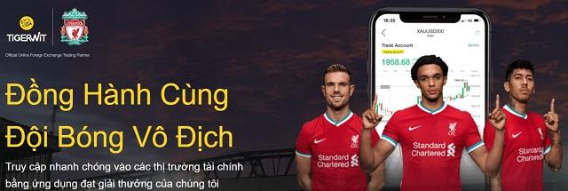 Sàn giao dịch TigerWit hiện đang là đối tác tài trợ của câu lạc bộ Liverpool