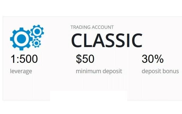Tài khoản Classic vẫn đang được Liteforex cung cấp