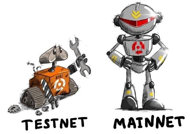 Testnet giống như người đi trước dò đường để hoàn thiện cho phiên bản mainnet sẽ giới thiệu sau đó