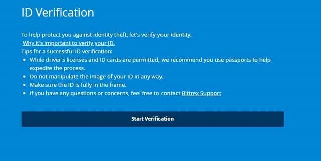Tiến hành xác minh danh tính bằng cách tải hình ảnh giấy tờ tùy thân nên hệ thống