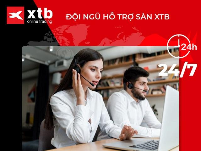 XTB thực hiện tương đối tốt khâu hỗ trợ khách hàng
