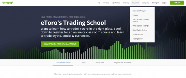 eToro cung cấp khóa học giao dịch tiền điện tử miễn phí và tài liệu giáo dục