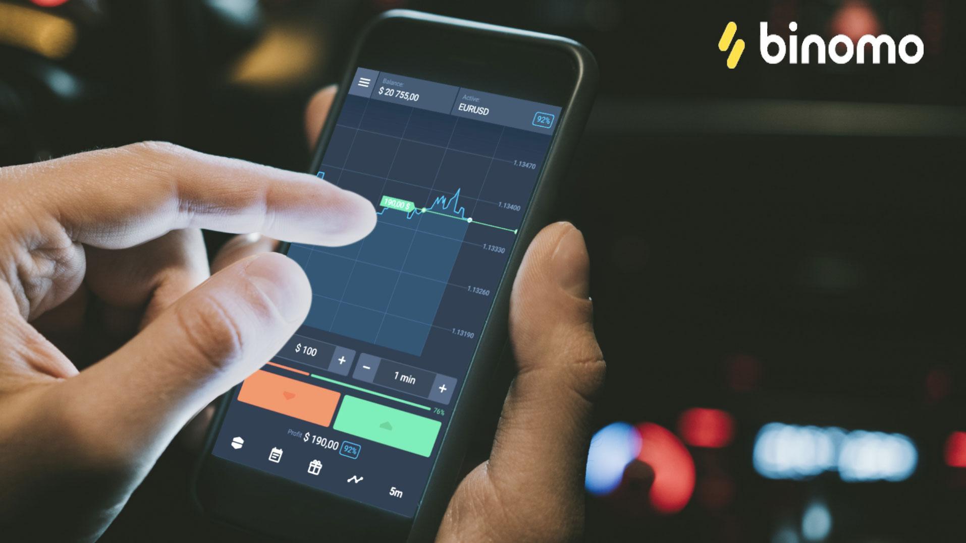Binomo cho phép người dùng tham gia giao dịch trên cả máy tính và thiết bị di động