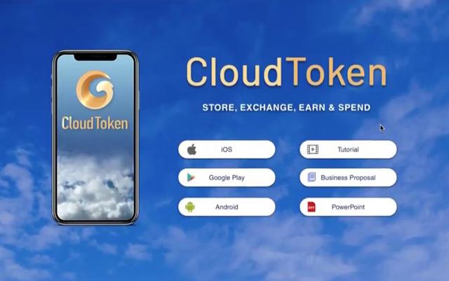 Cloud Token được quảng cáo như một ứng dụng ví điện tử xây dựng trên nền tảng blockchain 4.0