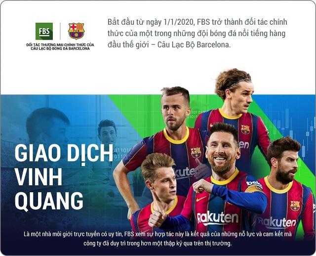 Hiện tại, FBS một trong những đối tác tài trợ chính của câu lạc bộ Barcelona