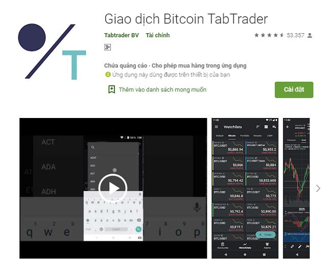 Hướng dẫn tải ứng dụng TabTrader trên PlayStore đơn giản và nhanh chóng