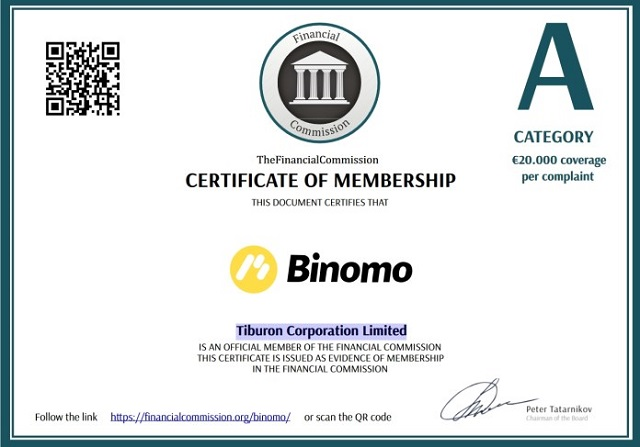 Sàn Binomo đang trực thuộc quản lý của FinaCom