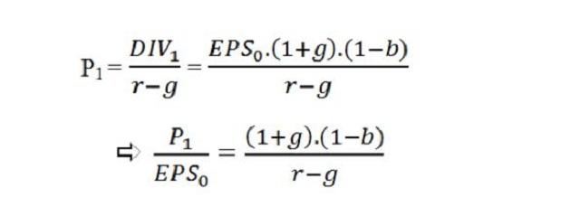 Công thức tính tính giá trị cổ phiếu thông qua phương pháp P/E