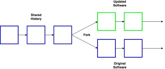 Fork trên blockchain là quá trình sao chép phần mềm gốc đồng thời thực hiện một số thay đổi