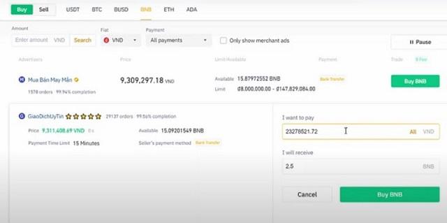 Khi đã có BNB trong ví, bạn có thể tiến hành mua Token AntEx vào ngày 10/10/2021