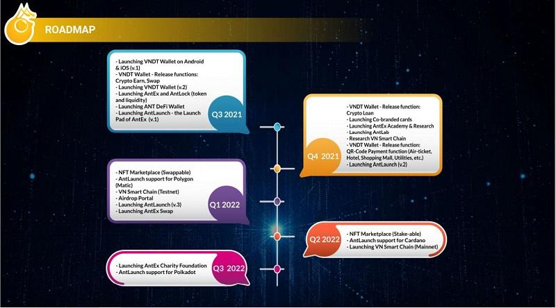 Lộ trình phát triển của dự án ANTEX