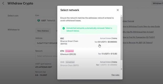 Phí giao dịch chuyển tiền qua mạng ETH quá cao so với mạng lưới BSC