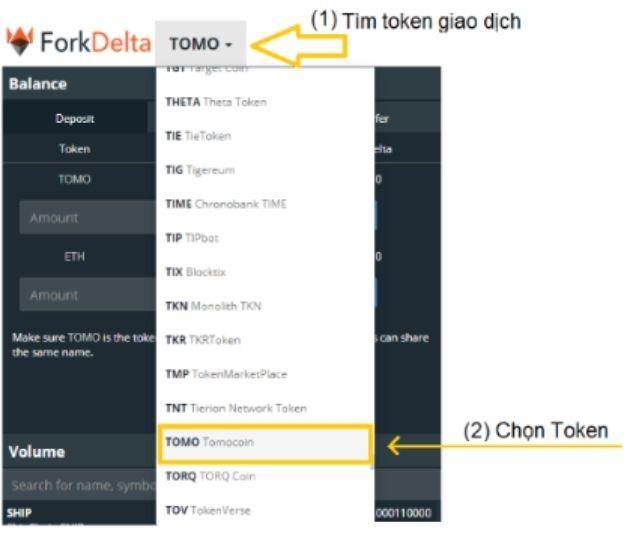 Cách bán token tại sàn FolkDelta bằng việc lựa chọn token